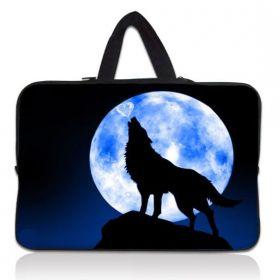 """Huado pánská taška pro notebook 17.4"""" Vlk vyjící na měsíc"""