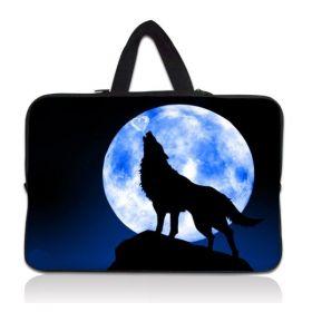 """Huado pánská taška pro notebook 12.1"""" Vlk vyjící na měsíc"""