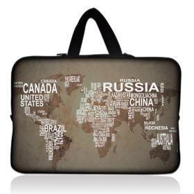 """Huado pánská taška pro notebook 15.6"""" Mapa světa"""