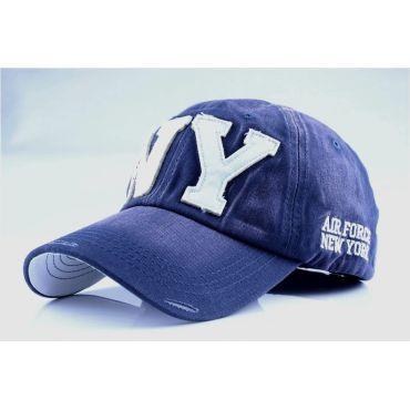 ANG-E kšiltovka s nápisem NY - tmavě modrá