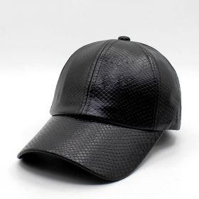 ANG-E koženková kšiltovka Krokodýl - černá