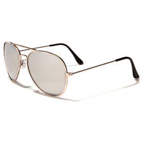 Sluneční brýle pilotky zlatý rám zrcadllové sklo
