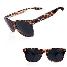 Sluneční brýle styl wayfarer leopard