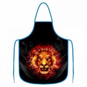 Kuchyňská zástěra - Lev král grilu