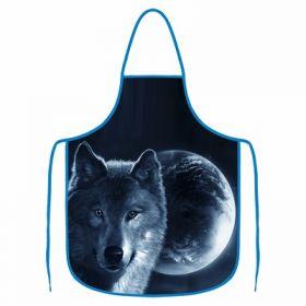 Kuchyňská zástěra - Vlk a měsíc