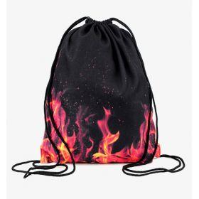 Plátěný vak s 3D potiskem Fire