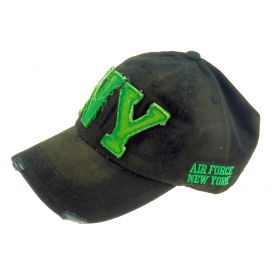 ANG-E kšiltovka s nápisem NY - černo zelená