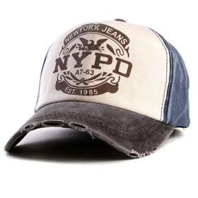 ANG-E kšiltovka s nápisem NYPD - modrá