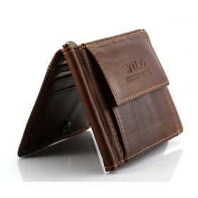 Always Wild pánská kožená peněženka s klipem