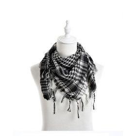 Arafatka šála černo bílá 100cm