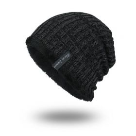 Black human pánská zimní čepice Černá