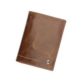 Rovicky pánská kožená peněženka Kleo Hnědá
