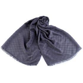 Pánský šátek vzor kostka 180 cm Šedý