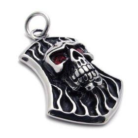 Přívěsek z chirurgické oceli skull dog tag