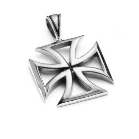 Přívěsek z chirurgické oceli Maltézský kříž
