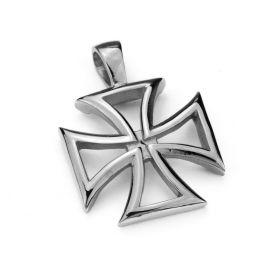Přívěsek z chirurgické oceli Bikerský kříž