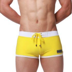 DESMIIT pánské plavky 4Sport žluté
