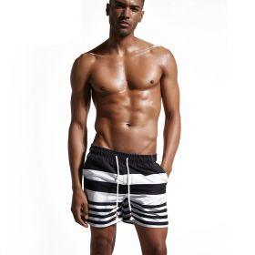 Super Body pánské plavky - Černé s proužky