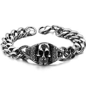 Pánský ocelový náramek Hazard Skull