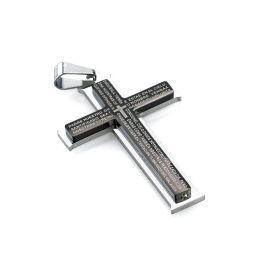 Ocelový přívěšek Křížek Calvo černý