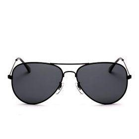 Sluneční brýle černý rám kouřové sklo
