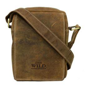 Always Wild pánská kožená taška Magnum khaki