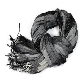 ArtOfPolo pánská podzimní šála Gentle Černá