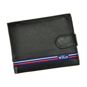 Always Wild pánská kožená peněženka Black Line