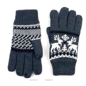ArtOfPolo pánské rukavice se soby Šedé