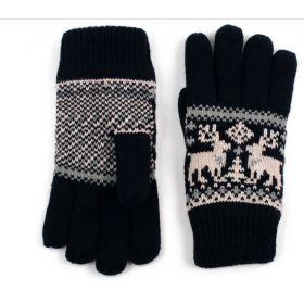 ArtOfPolo pánské rukavice se soby Černé