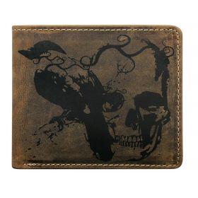 Always Wild pánská kožená peněženka Skull