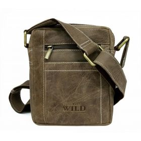 Always Wild pánská kožená taška Taupe