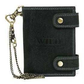 Buffalo Wild pánská kožená peněženka s řetízkem