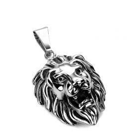 Přívěsek z chirurgické oceli - Lví hlava
