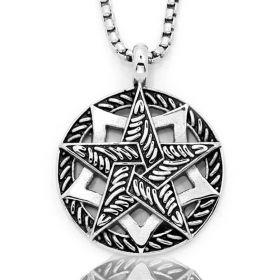Přívěsek z chirurgické oceli Hexagram