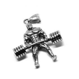 Přívěsek z chirurgické oceli Vzpěrač