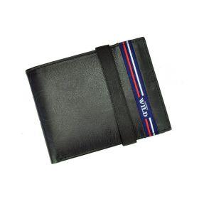 Always Wild pánská kožená peněženka Slim Modrá