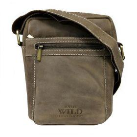 Always Wild pánská kožená taška Ryan Taupe