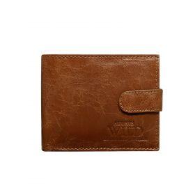 Always Wild pánská kožená peněženka Moon hnědá