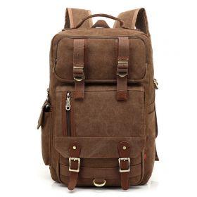 Kaukko plátěný batoh Unbreakable- Hnědý