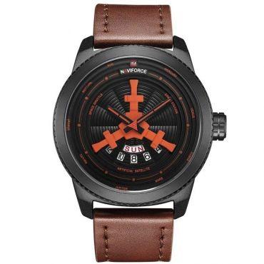 NAVIFORCE Pánské hodinky 9156M Hnědé