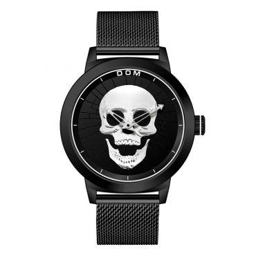 DOM pánské hodinky s lebkou Silver Skull