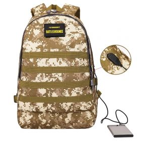 Batoh s USB portem Military camouflage