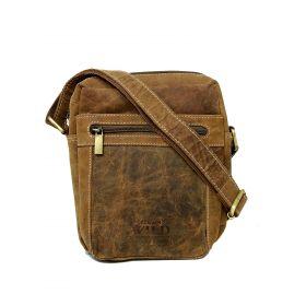 Always Wild pánská kožená taška Ryan Hnědá