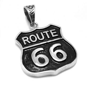 Přívěsek z chirurgické oceli Route 66