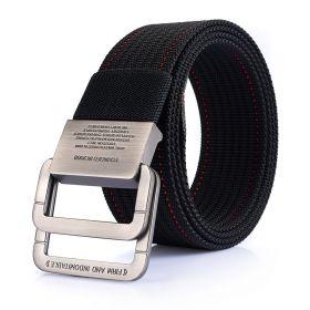 Pánský plátěný pásek Military Combat- Černý