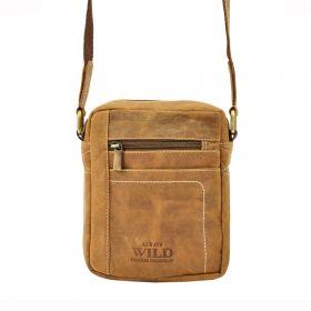 Always Wild pánská kožená taška TAN