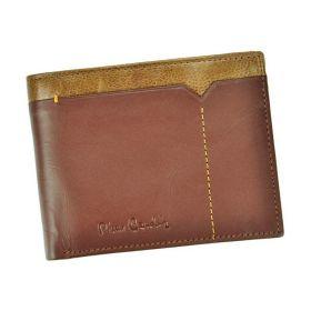 Pierre Cardin pánská kožená peněženka CACTUS Hnědá