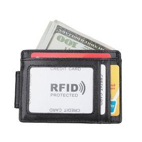 Pánská kožená peněženka Slim Card Soft Černá