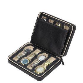 Úložný box na hodinky 8 komor Černý